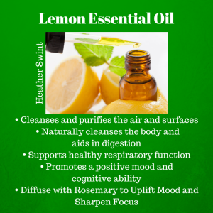lemon, essential oil, pure, natural health, granola mom